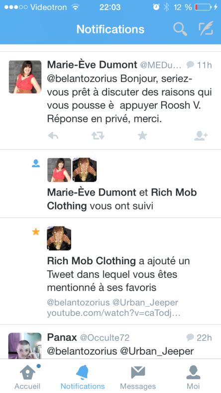 Marie-eve Dumont tweet